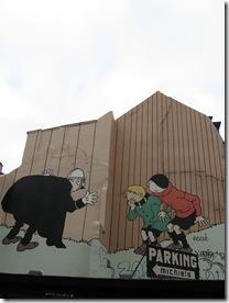 Cartoane desenate pe blocuri, Bruxelles
