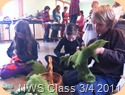 NWS Class 3/4 Felted mural - Cutting shapes from handmade prefelt