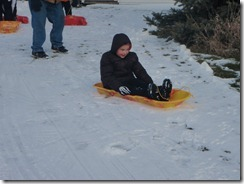 sledding. xmas, kateys bday 005