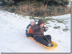 sledding. xmas, kateys bday 030