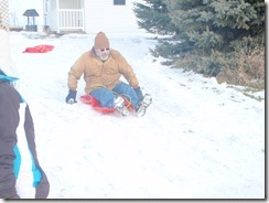 sledding. xmas, kateys bday 050