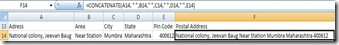 Microsoft Excel, concatenate