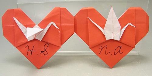 簡単 折り紙 折り紙ハート鶴折り方 : hyperd.blog66.fc2.com