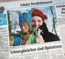 Abbildung des Artikel 'Schneeglöckcken sind Optimisten' aus dem Haller Kreisblatt vom 10.03.2010