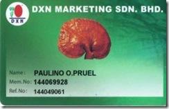 My DXN Int'l ID Card