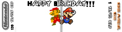 Super MarioJr Blog logo-Happy Birthday Nintendo (and Super MarioJr Blog)