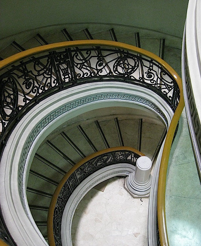 spiral staircase at the Philippine National Gallery of Art