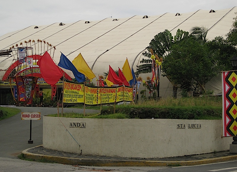 Intramuros Clamshell exhibition tent