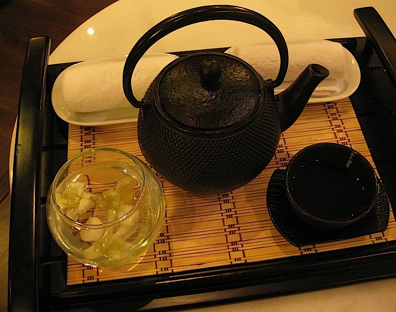 tea served at the waiting room of Sofitel Manila's Le Spa