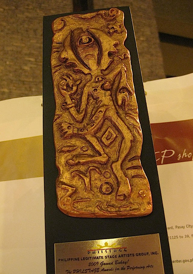 trophy created by Don Salubayba for the 2009 Gawad Buhay!