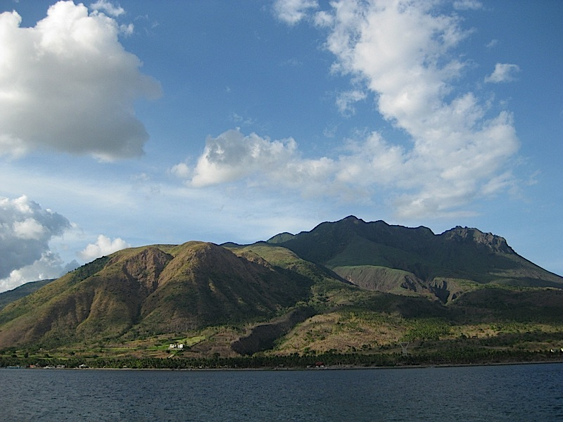 Mount Malindig as seen from Bellarocca Island Resort