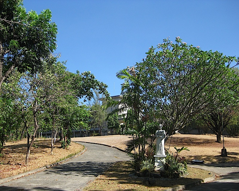 driveway of the Loyola Retreat House in Angono, Rizal