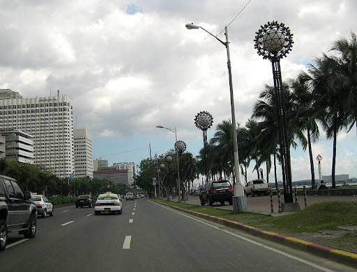 Roxas Boulevard beside the Manila Baywalk