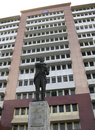 statue of Manuel L. Quezon in front of the Quezon City Hall