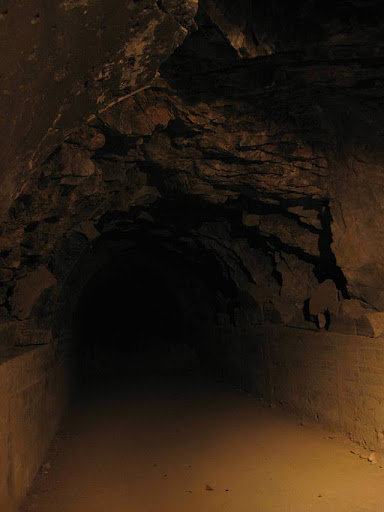 one of the collapsed lateral tunnels in the Malinta Tunnel complex in Corregidor Island