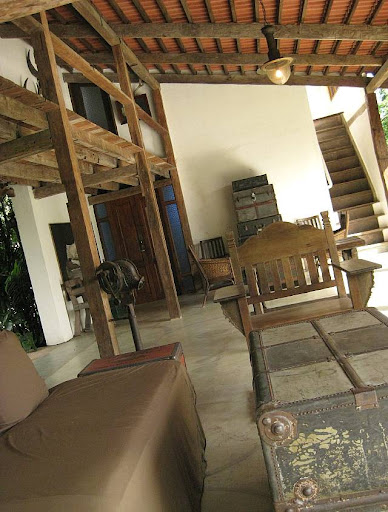sitting area of a house filled with antiques in Hacienda Isabella in Indang, Cavite