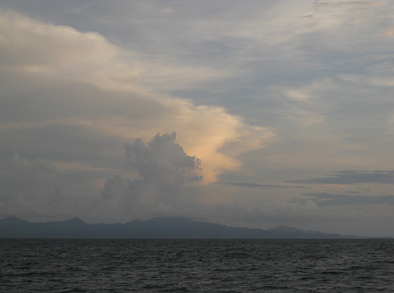 clouds over the province of Cavite as seen from Manila Bay