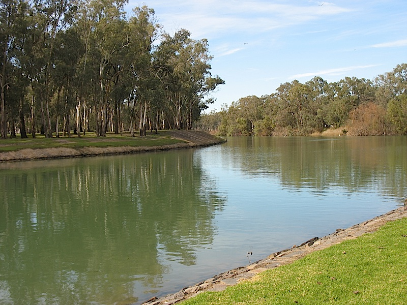 Mildura Weir on the Murray River