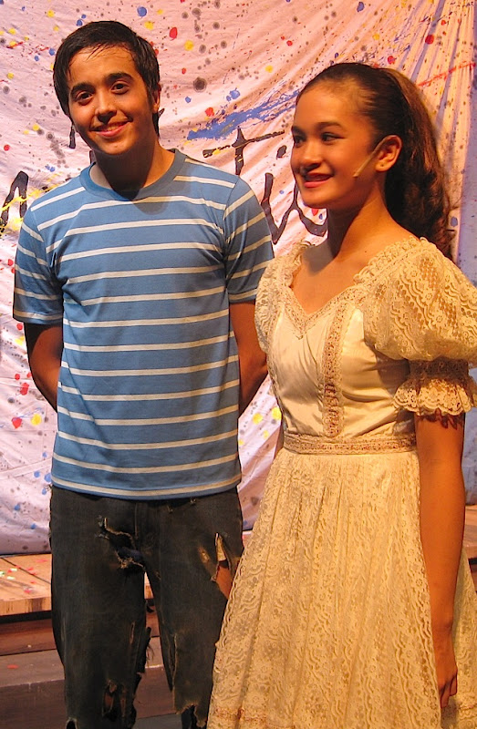 PJ Valerio and Julia Abueva in Repertory Philippines' production of The Fantasticks