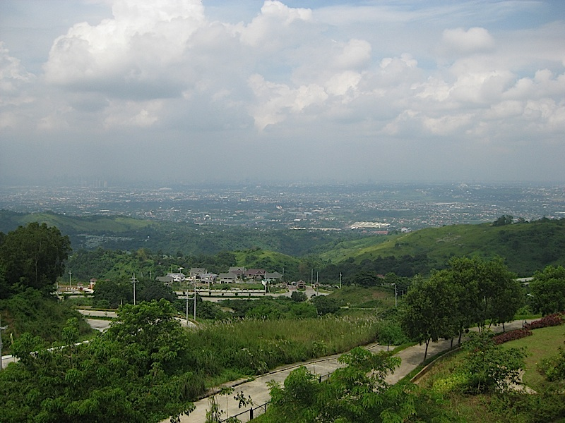 view of Metro Manila from the Timberland Sports and Nature Club