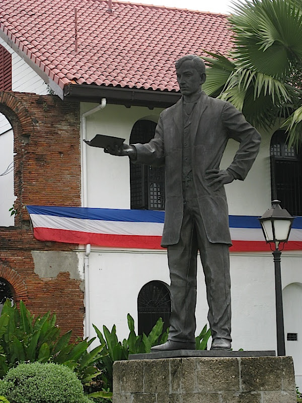 statue of Jose Rizal inside Fort Santiago