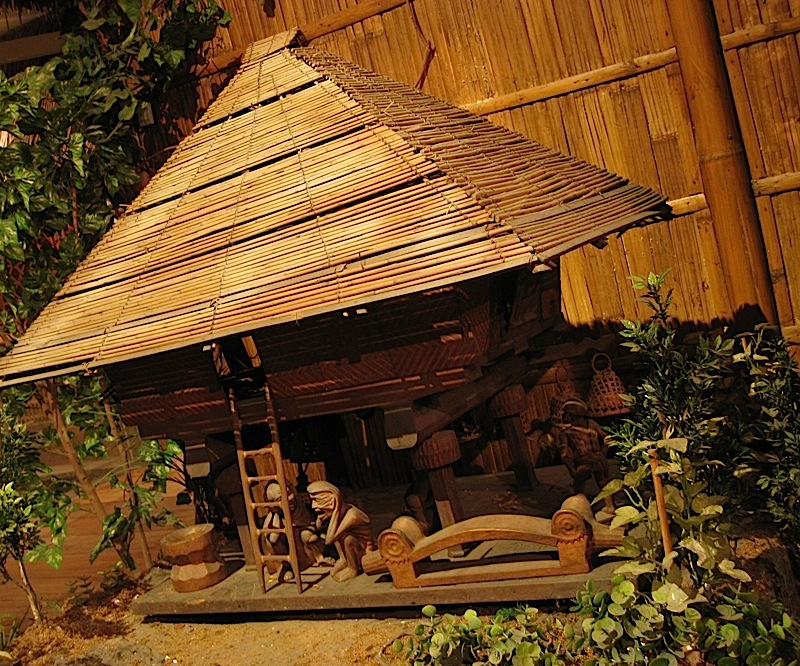 model of a traditional Ifugao house