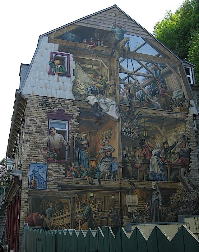 Fresque du Petit-Champlain at Quartier Petit Champlain, Quebec City
