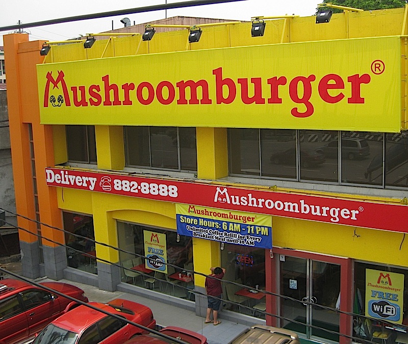 Mushroomburger along Katipunan Avenue