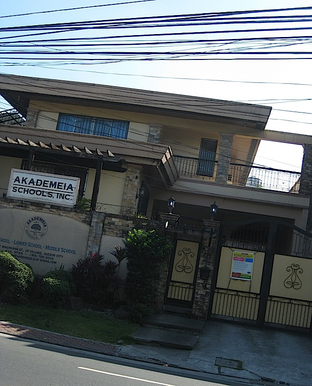 Akademeia school in U.P. Village, Quezon City