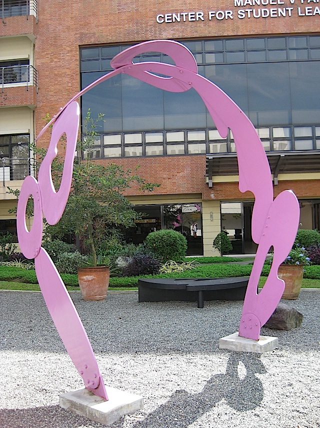 Impy Pilapil's outdoor sculpture Surge at the Ateneo de Manila University