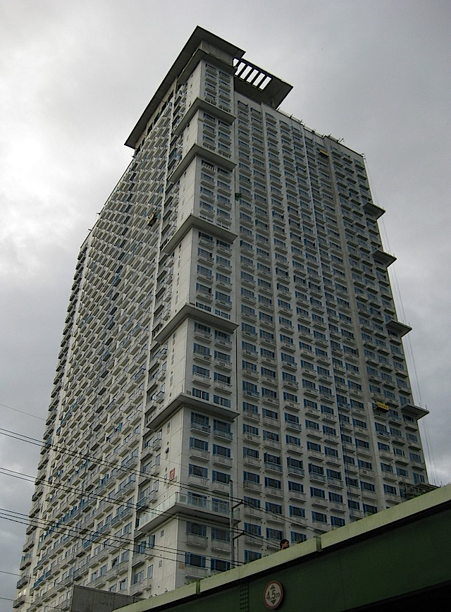 Berkeley Residences seen from the front of Miriam College