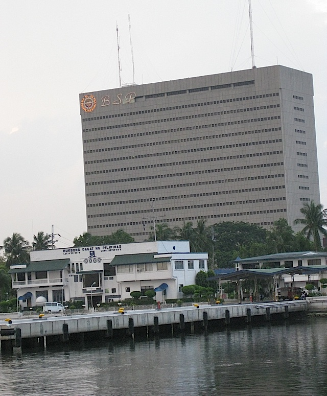 headquarters of the Central Bank of the Philippines and the Philippine Navy