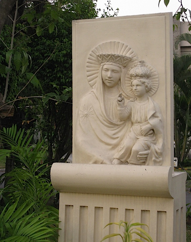 relief of the Madonna and Child
