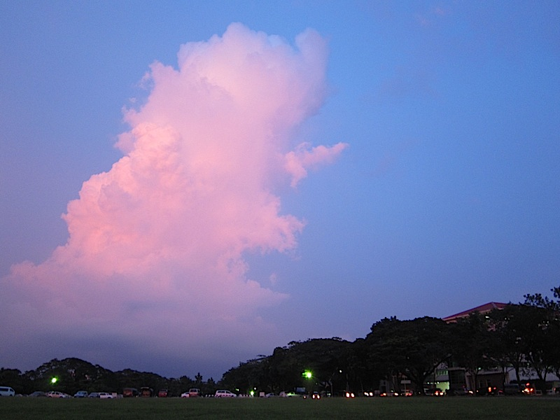 big cloud over Ateneo de Manila University