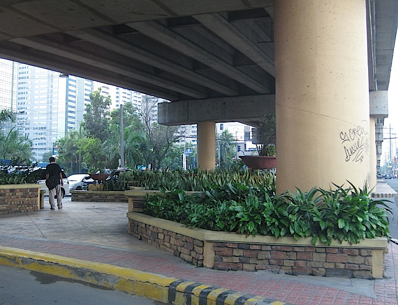 underneath the Meralco Avenue flyover
