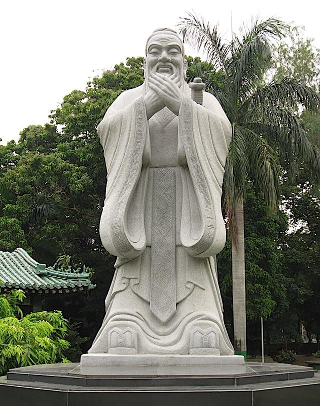 statue of Confucius at the Rizal Park