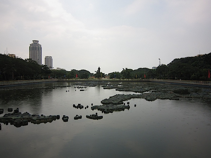 relief map of the Philippines at the Rizal Park
