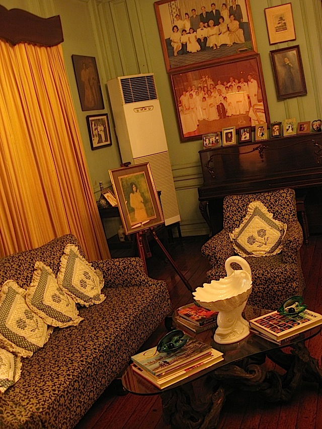 living room of La Cocina de Tita Moning, the ancestral home of the Legarda clan