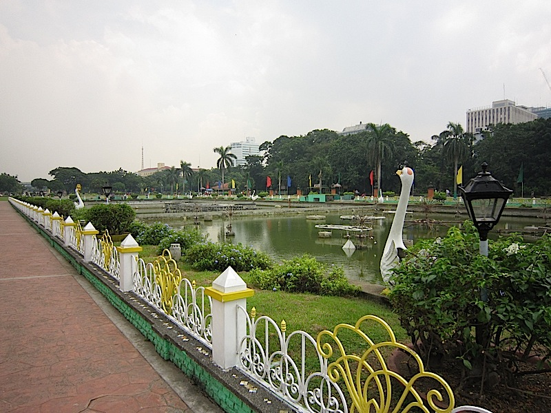 decorative pool at the Rizal Park