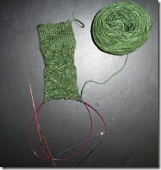Embossed Leaves Sock 2