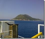 Isola di Saseno vista dal traghetto