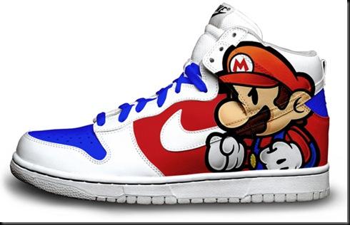 Paper-Mario-Custom-Nike-Dunks