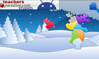 Screenshot of Christmas Shape Puzzles