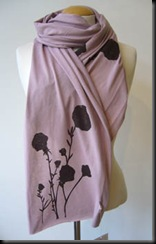 pink poppies scarf