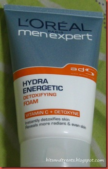 loreal men expert hydra energetic detoxifying foam, by bitsandtreats