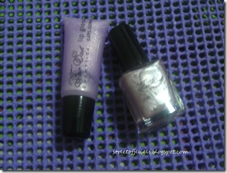 four east lavender lip gloss and nail polish