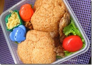 garlic chicken sandwich bento, by 240baon