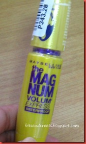 maybelline the magnum volum' express waterproof mascara, by bitsandtreats