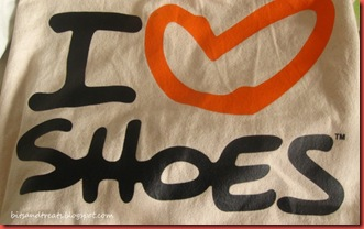 i heart shoes canvass tote from payless, by bitsandtreats