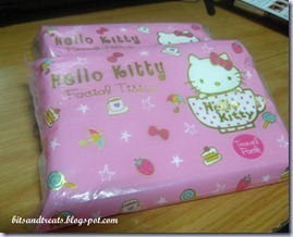 hello kitty facial tissues, by bitsandtreats